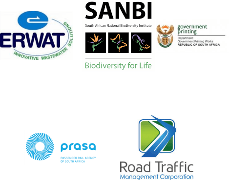 We provide(d) services to ERWAT, SANBI, Prasa, Road Traffic and Government Printing